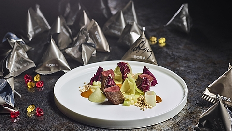 Venison fillet with kohlrabi and sea-buckthorn
