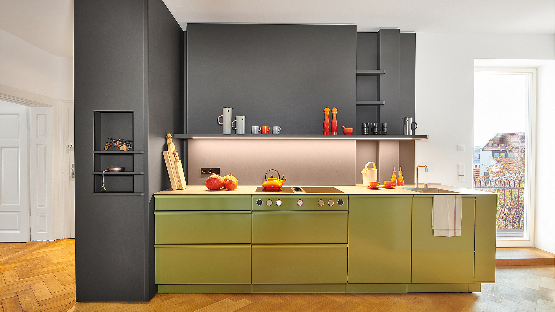 Steel kitchens as colourful as a vegetable garden