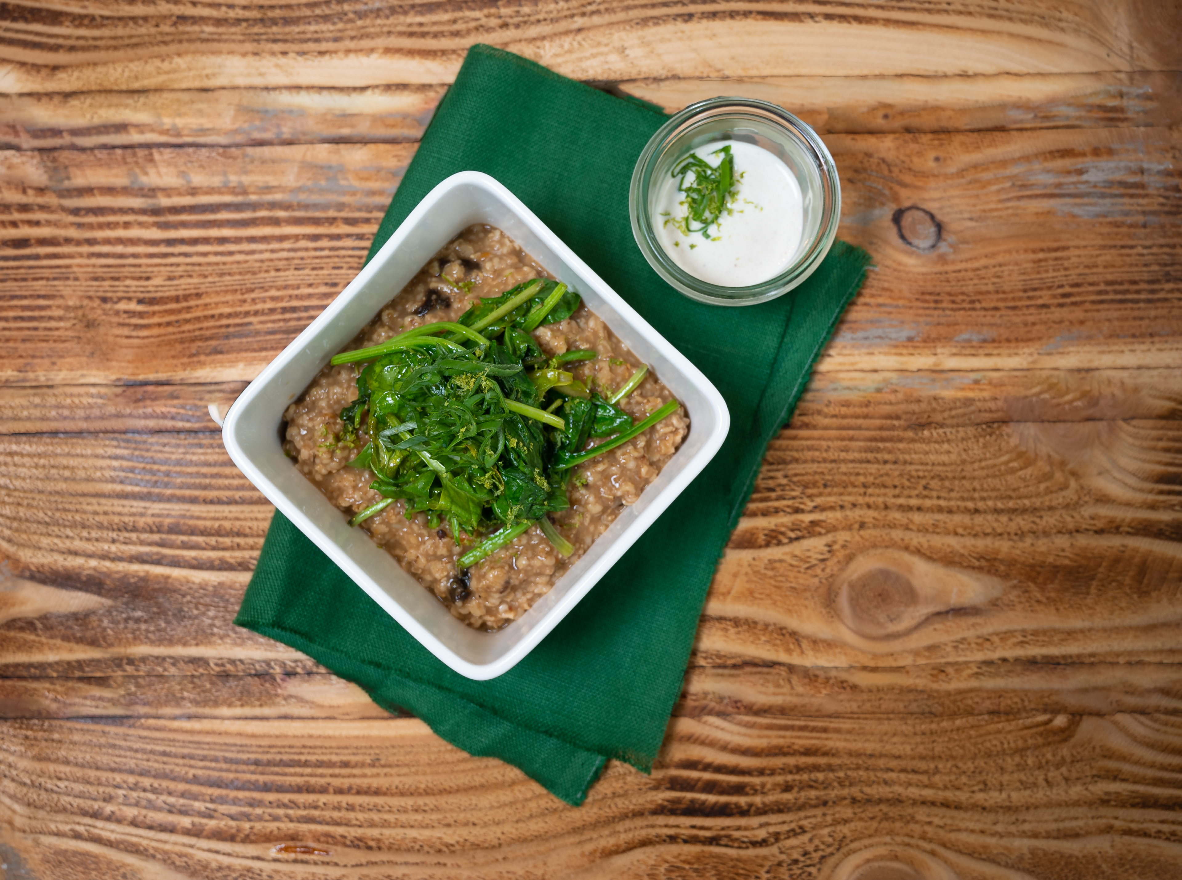 Hearty spinach porridge