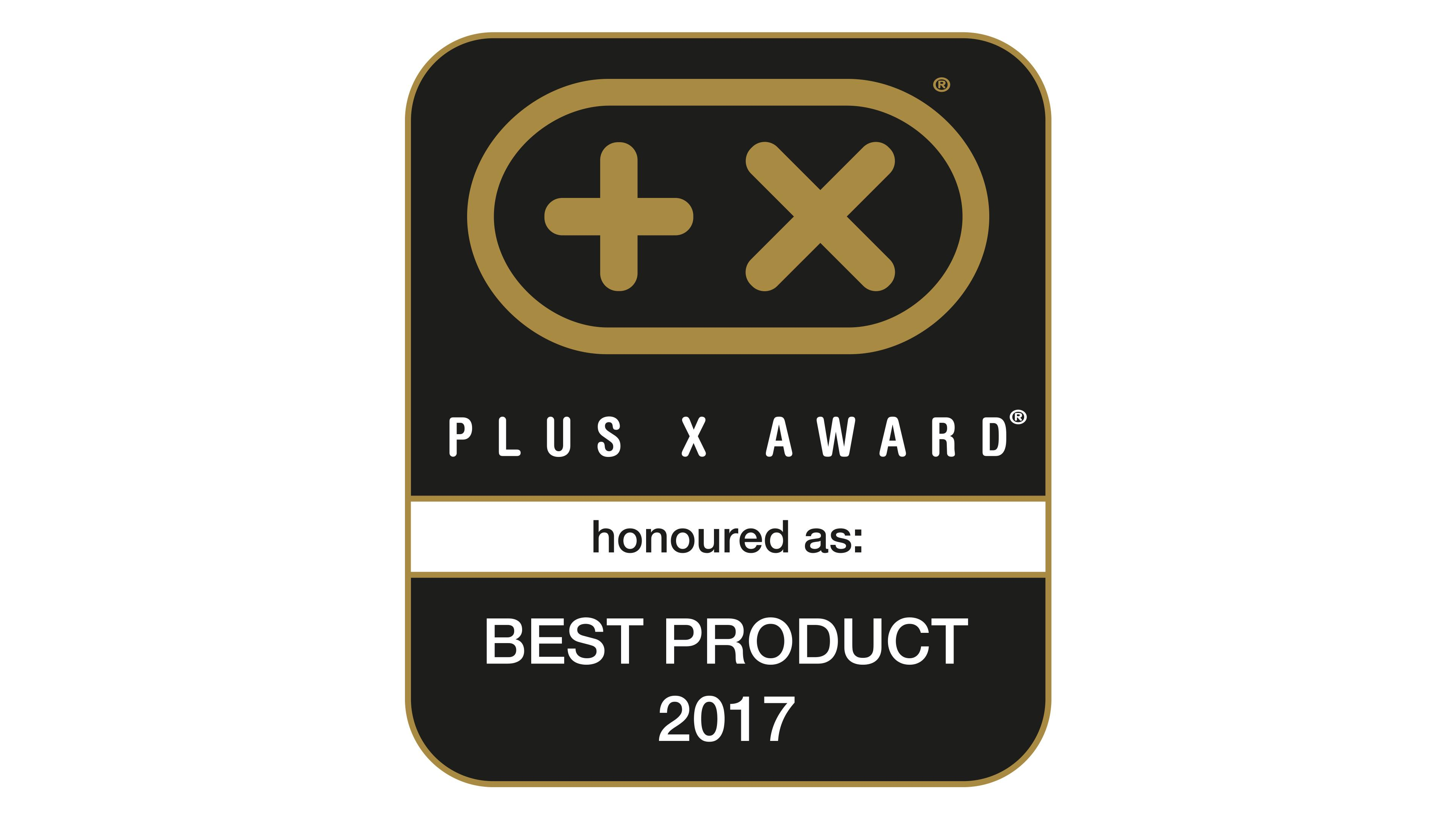 Plus X Award Best Product 2017