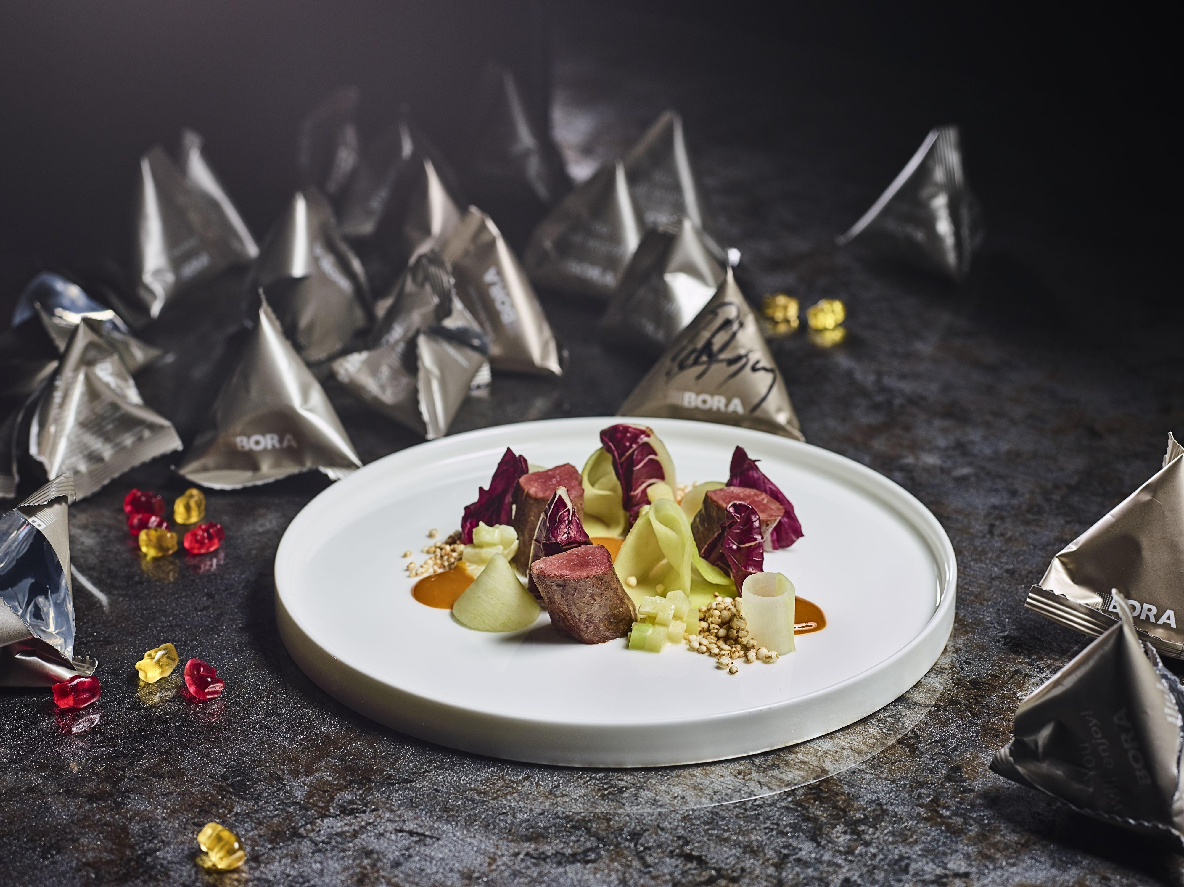 Venison fillet with kohlrabi and sea buckthorn