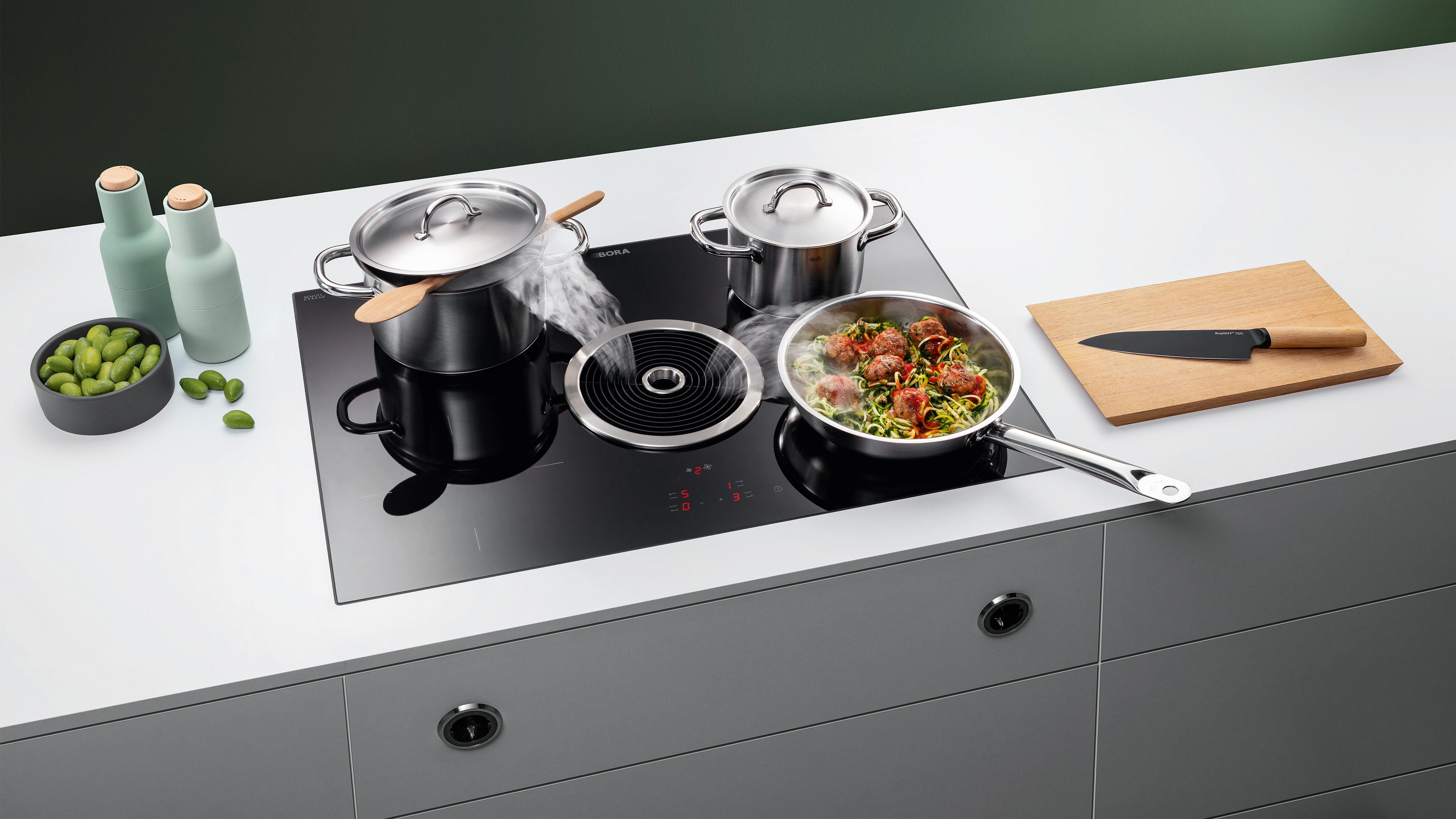 BORA Basic: cooktop and cooktop extractor as a compact system for any kitchen