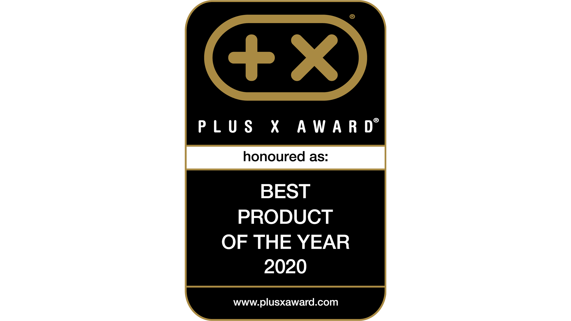 Logo - Plus X Award - Product of the year 2020